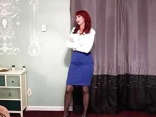 Kendra James - Bossy Burglar Prevents Her From Urinating