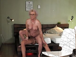 Mind-blowing Lodger John Price Fucks Old Land Lady And Cums On Her Glasses