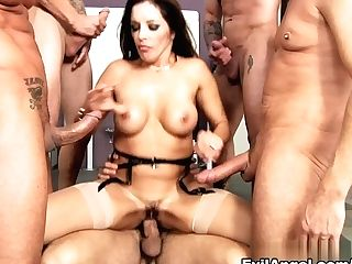 Finest Superstars Alec Knight, Ariana Marie, Marco Banderas In Incredible Group Sex, Stockings Porno Flick