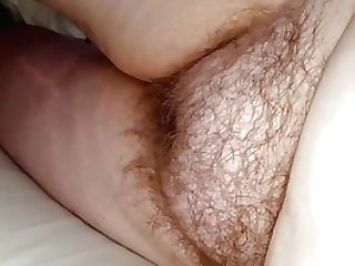 Hairy Labia & Big Tits, Nips Laying Naked On The Sofa