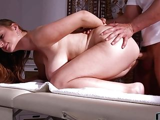 Big Titty Dame Suzie Gets Her Butt Hole Fucked On The Rubdown Table