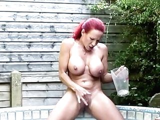 Big Titted Ginger-haired Matures Masturbating