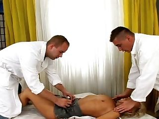 Perverted Massagists Entice Horny Matures Woman For Threesome Fuck